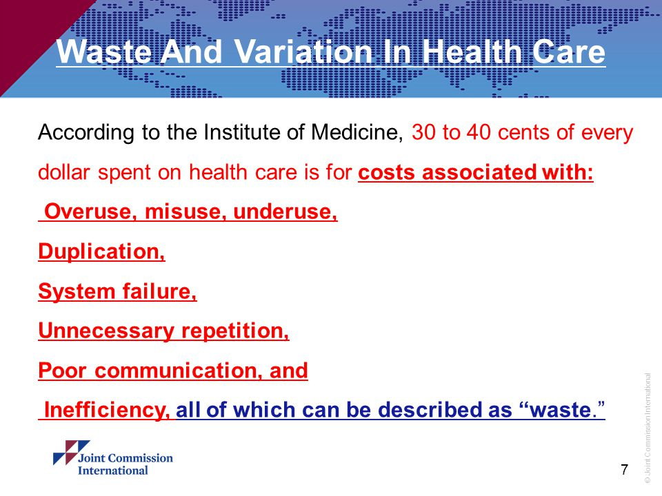 Waste And Variation In Health Care