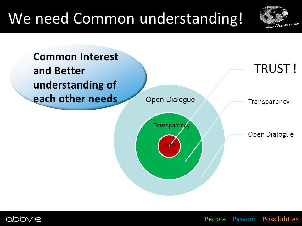 We need Common understanding!