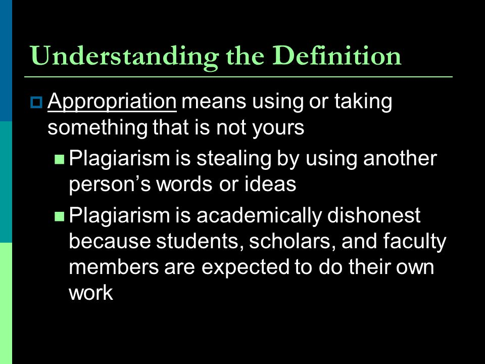 Understanding the Definition
