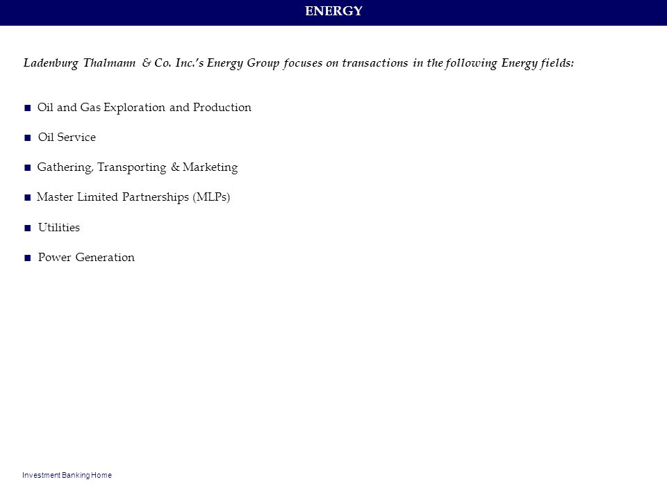 ■ Oil and Gas Exploration and Production ■ Oil Service