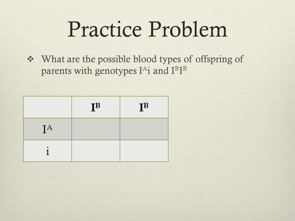 Practice Problem IB IA i