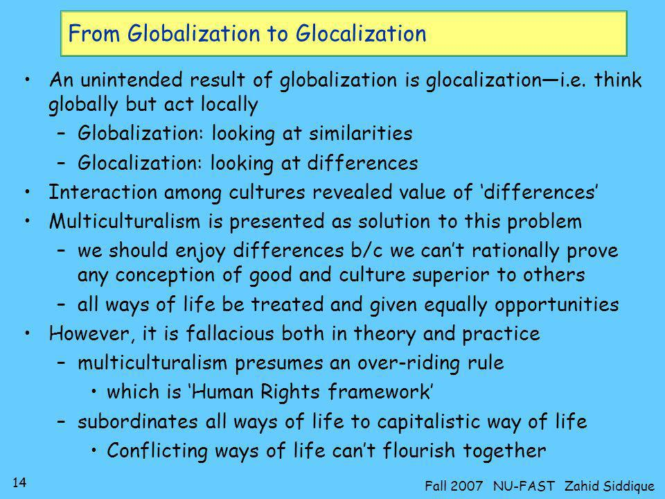 From Globalization to Glocalization