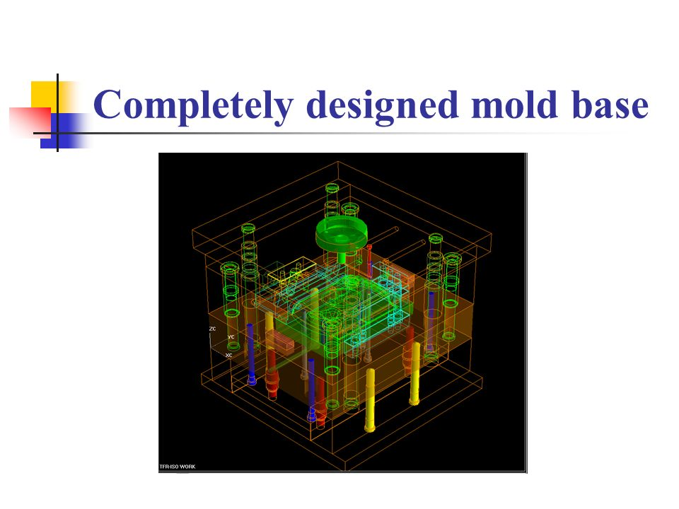 Completely designed mold base