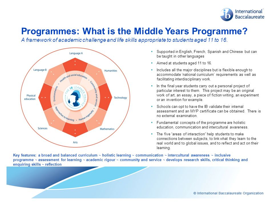 Programmes: What is the Middle Years Programme