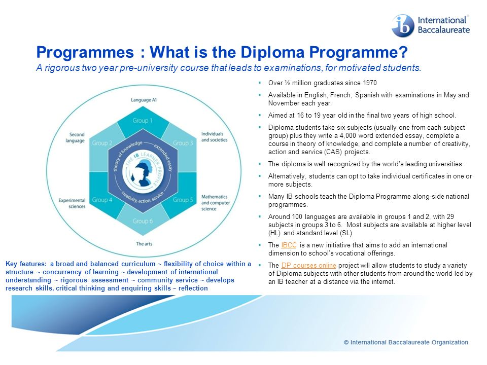 Programmes : What is the Diploma Programme