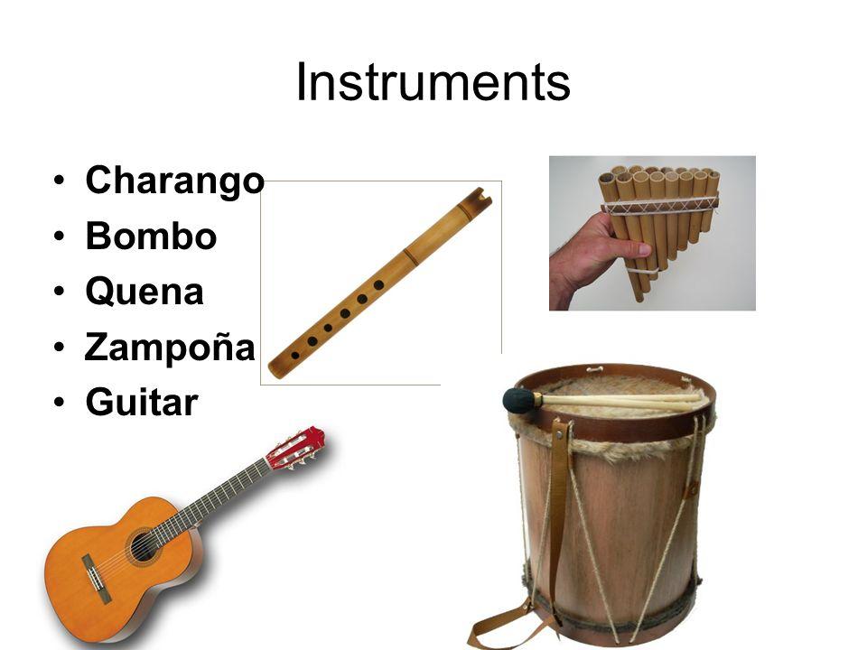 Instruments Charango Bombo Quena Zampoña Guitar