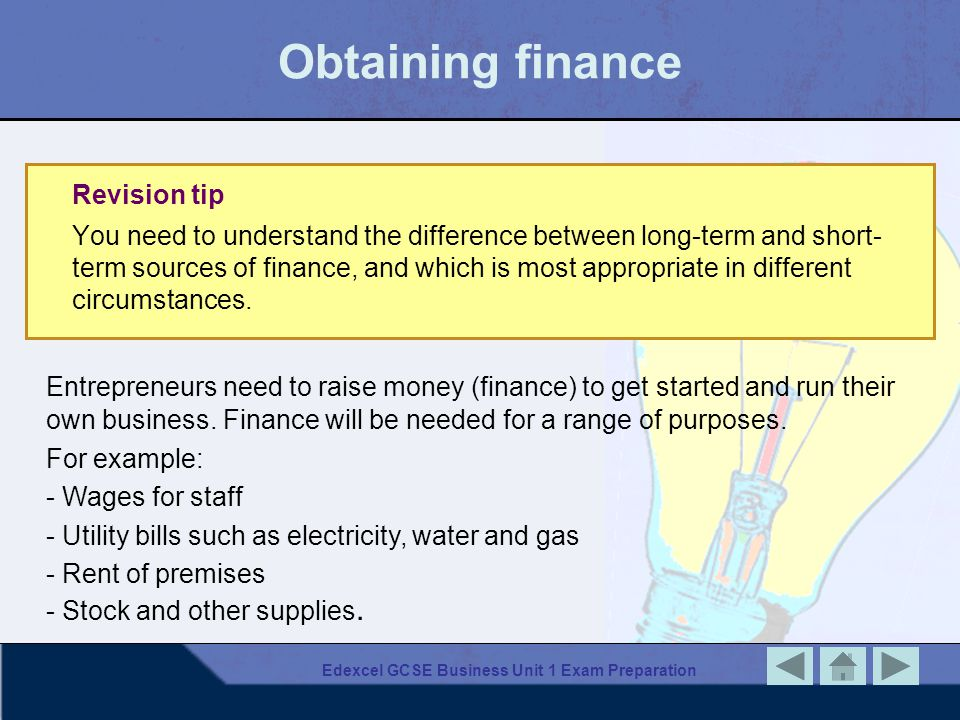Edexcel GCSE Business Unit 1 Exam Preparation