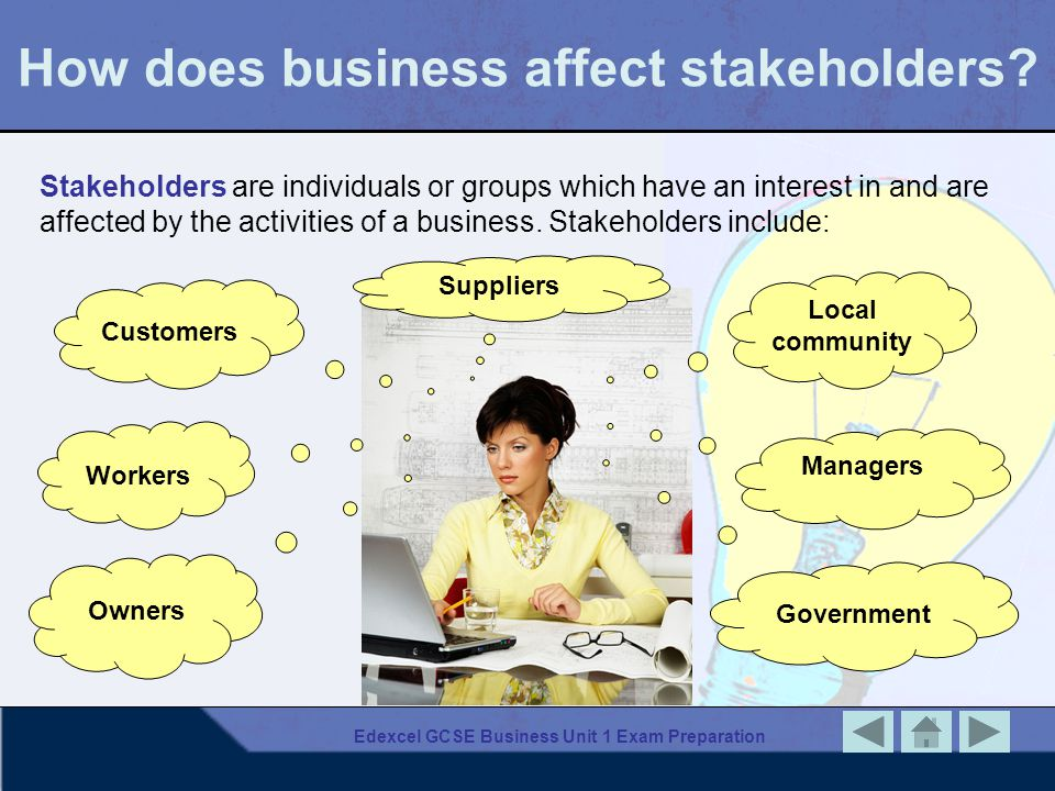 How does business affect stakeholders