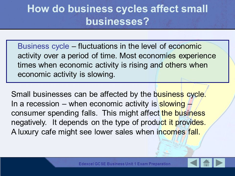 How do business cycles affect small businesses