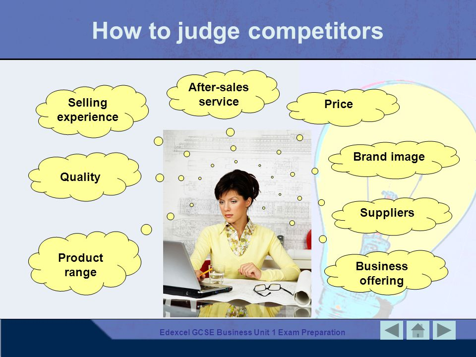 How to judge competitors