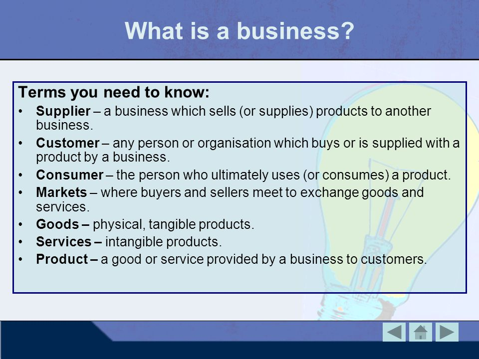 What is a business Terms you need to know: