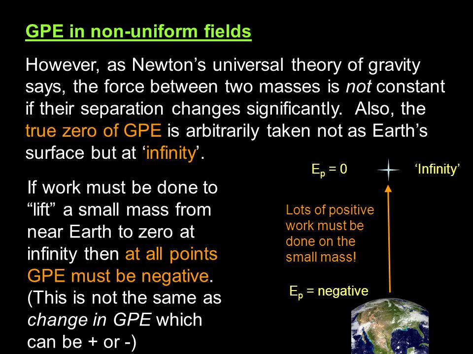 GPE in non-uniform fields