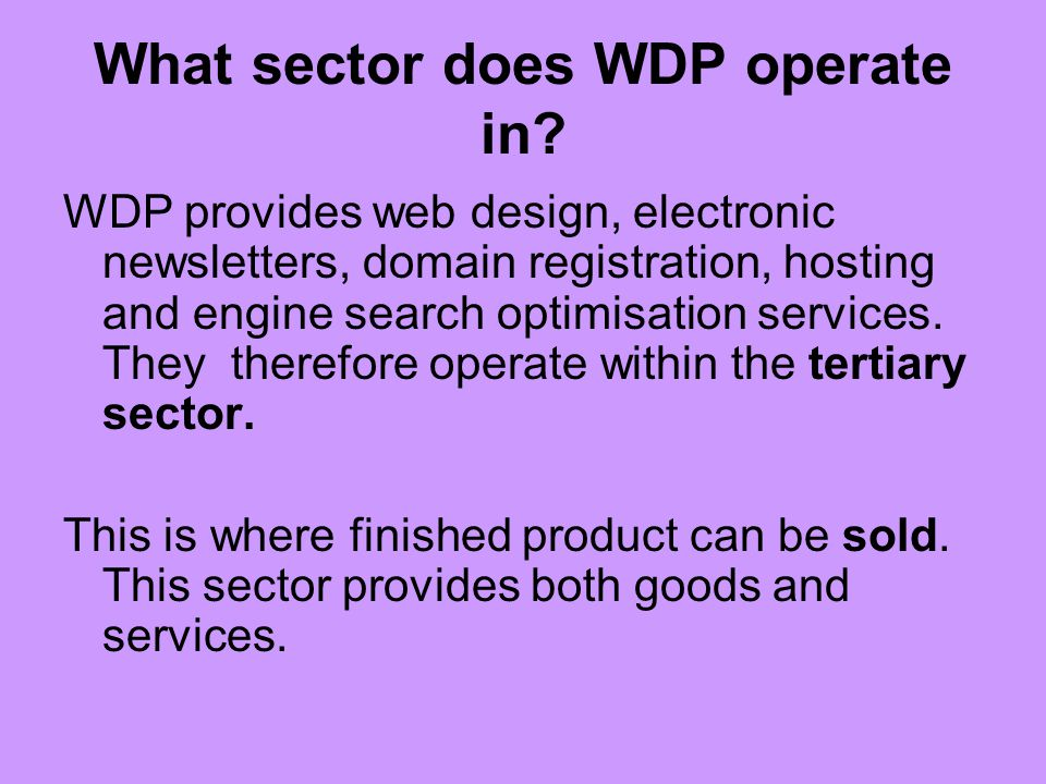 What sector does WDP operate in