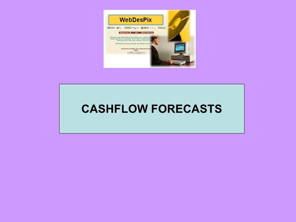 WebDesPix CASHFLOW FORECASTS