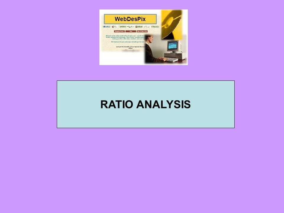 WebDesPix RATIO ANALYSIS