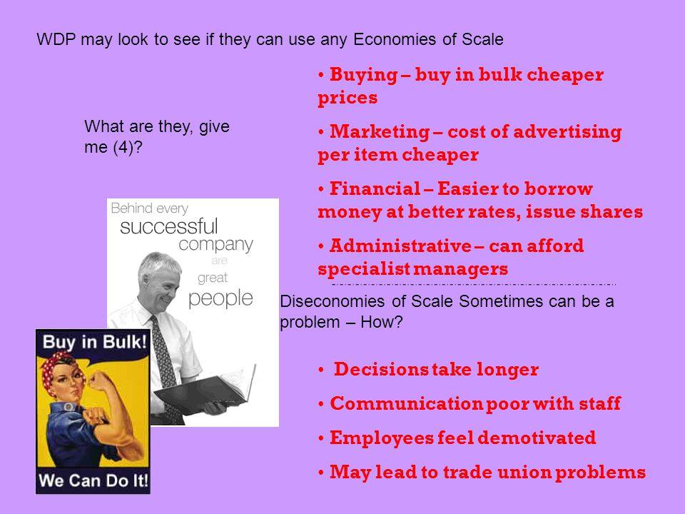 Buying – buy in bulk cheaper prices