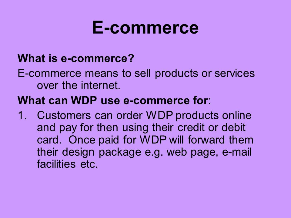 E-commerce What is e-commerce