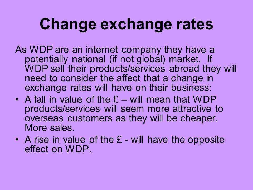 Change exchange rates