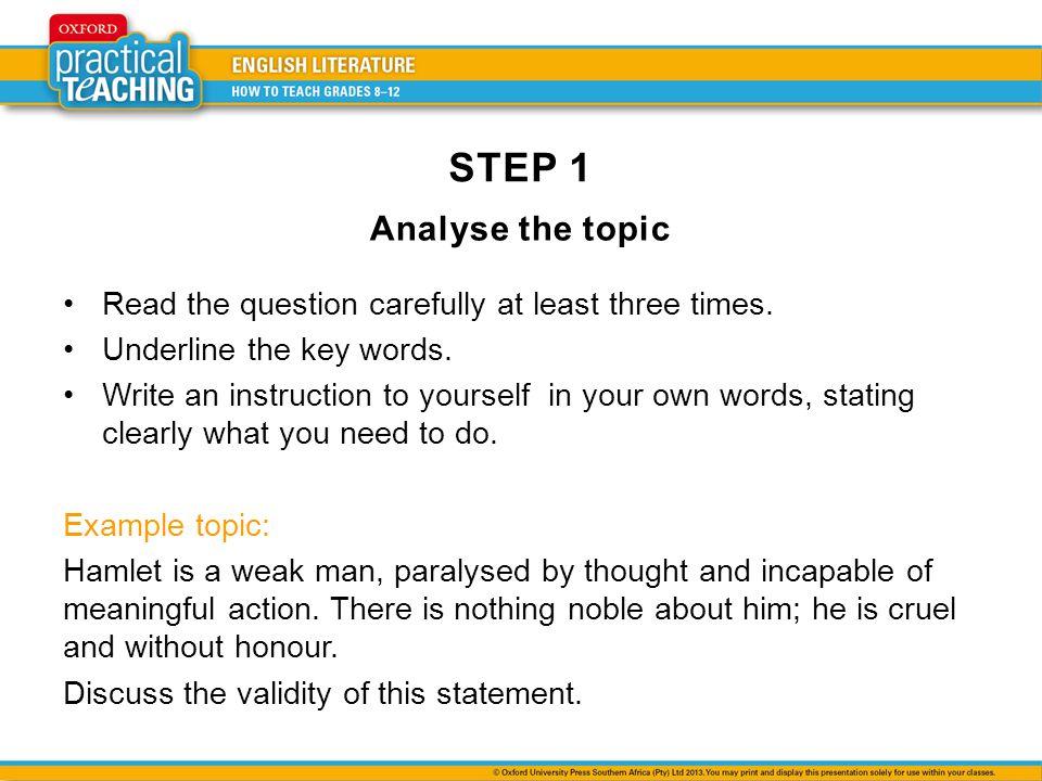 good essay questions hamlet