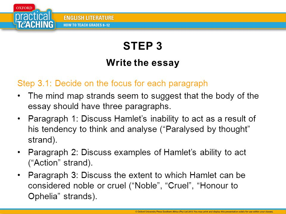 Introduction three step essay