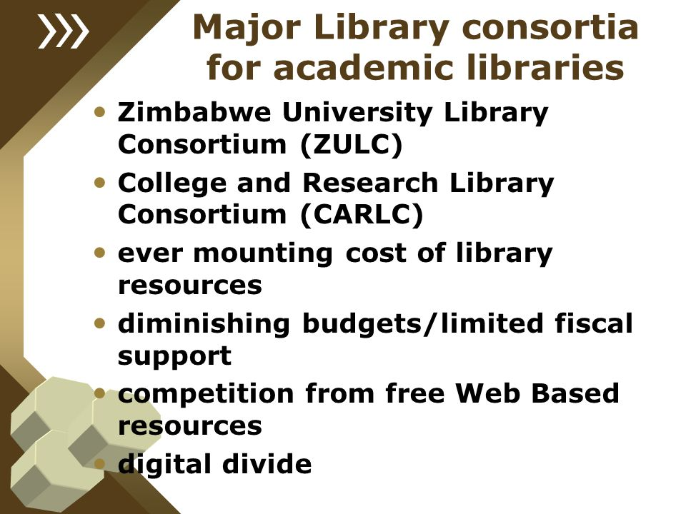 Major Library consortia for academic libraries