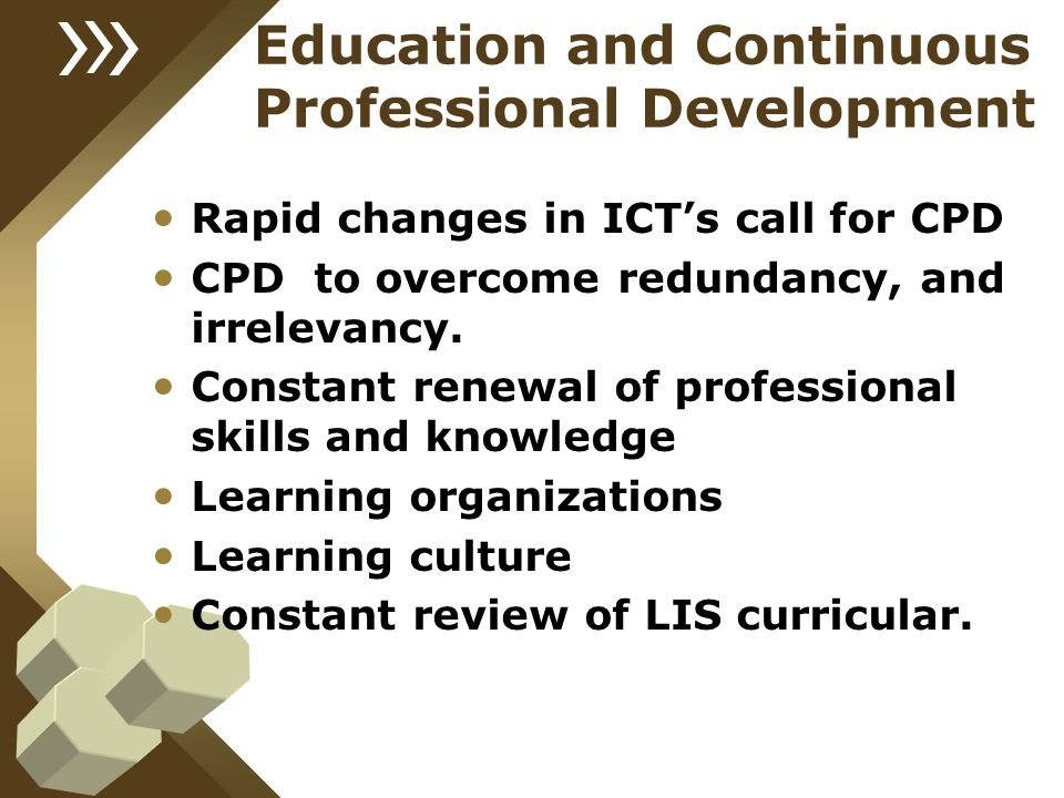 Education and Continuous Professional Development