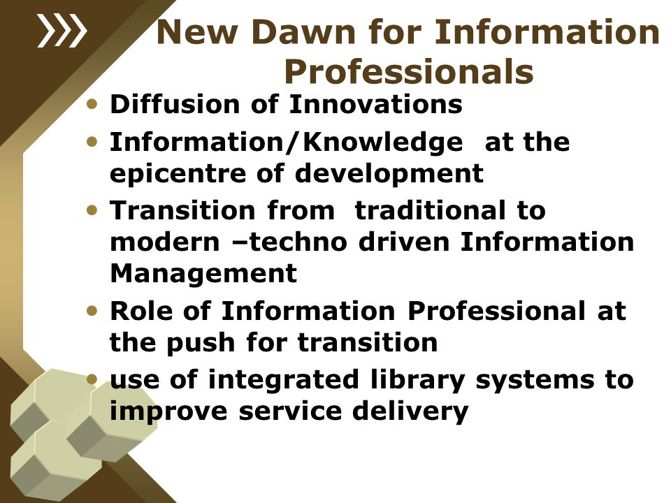 New Dawn for Information Professionals