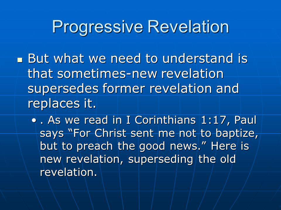 Progressive Revelation