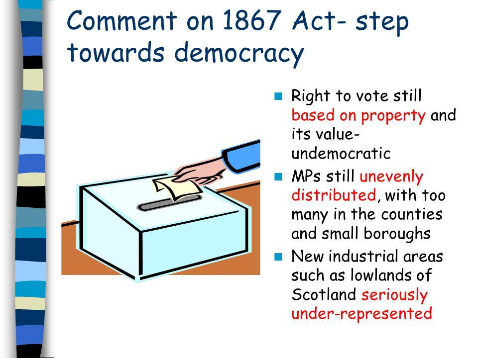 Comment on 1867 Act- step towards democracy