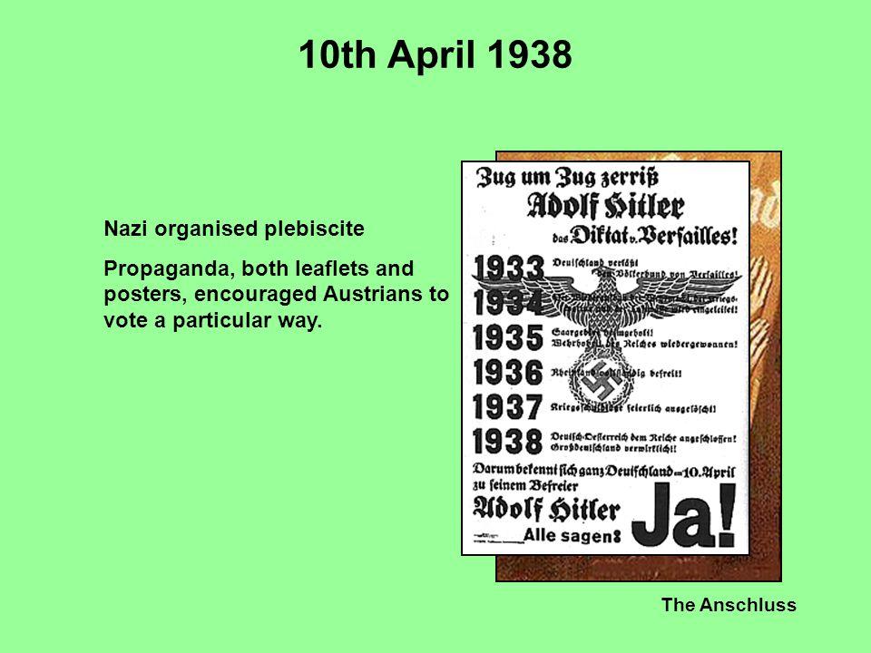 10th April 1938 Nazi organised plebiscite