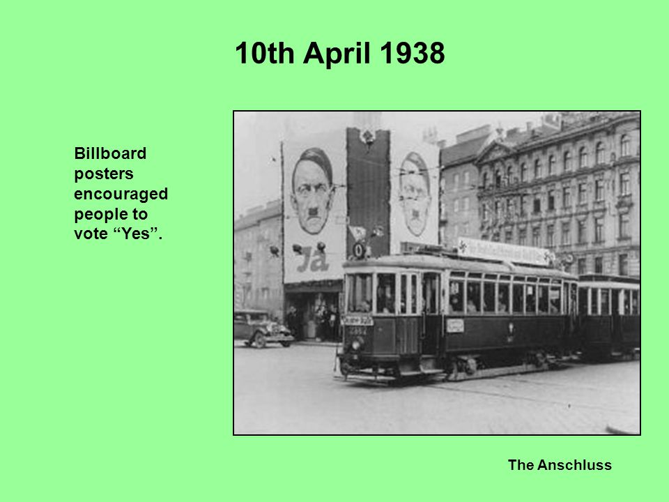 10th April 1938 Billboard posters encouraged people to vote Yes .
