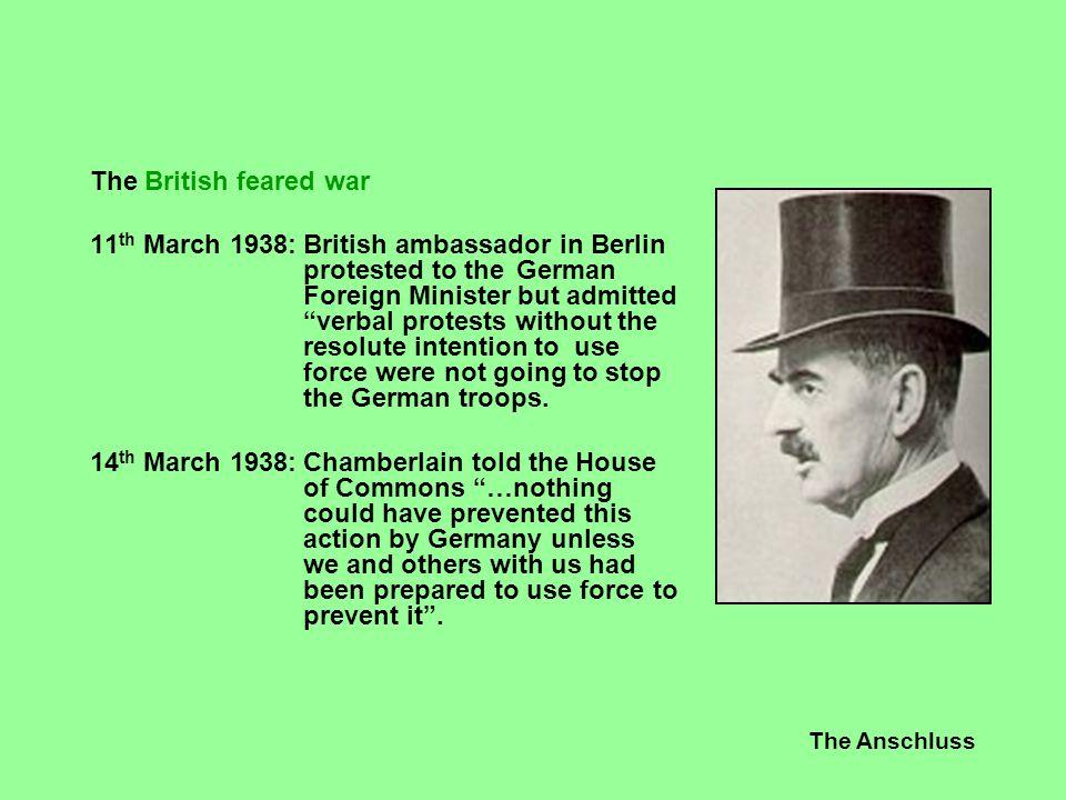 The British feared war