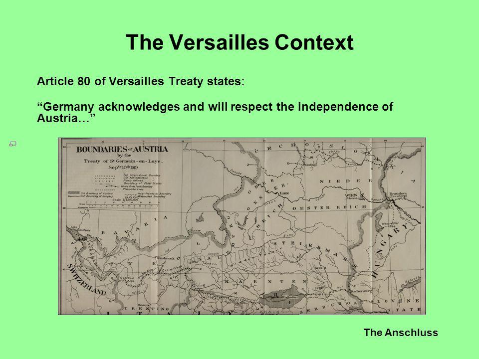 The Versailles Context
