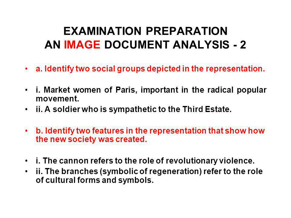 EXAMINATION PREPARATION AN IMAGE DOCUMENT ANALYSIS - 2
