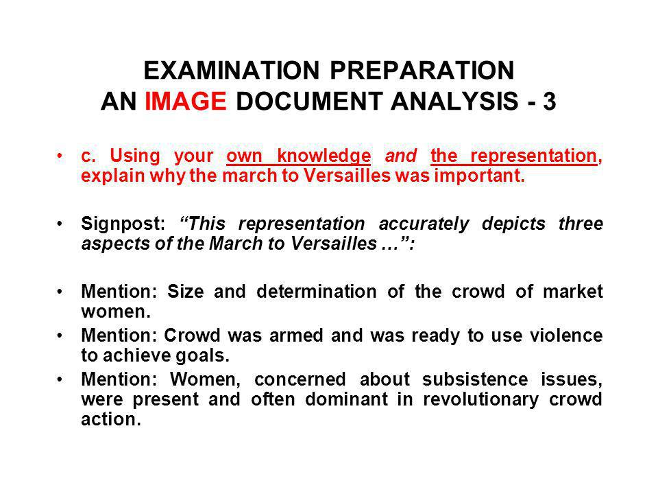 EXAMINATION PREPARATION AN IMAGE DOCUMENT ANALYSIS - 3