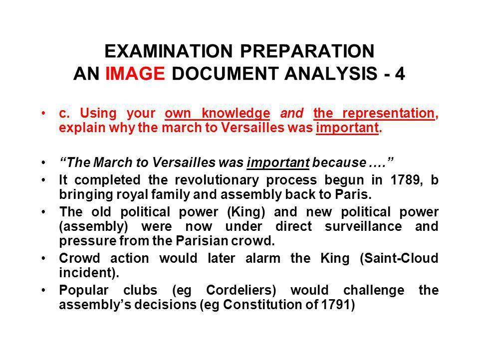 EXAMINATION PREPARATION AN IMAGE DOCUMENT ANALYSIS - 4