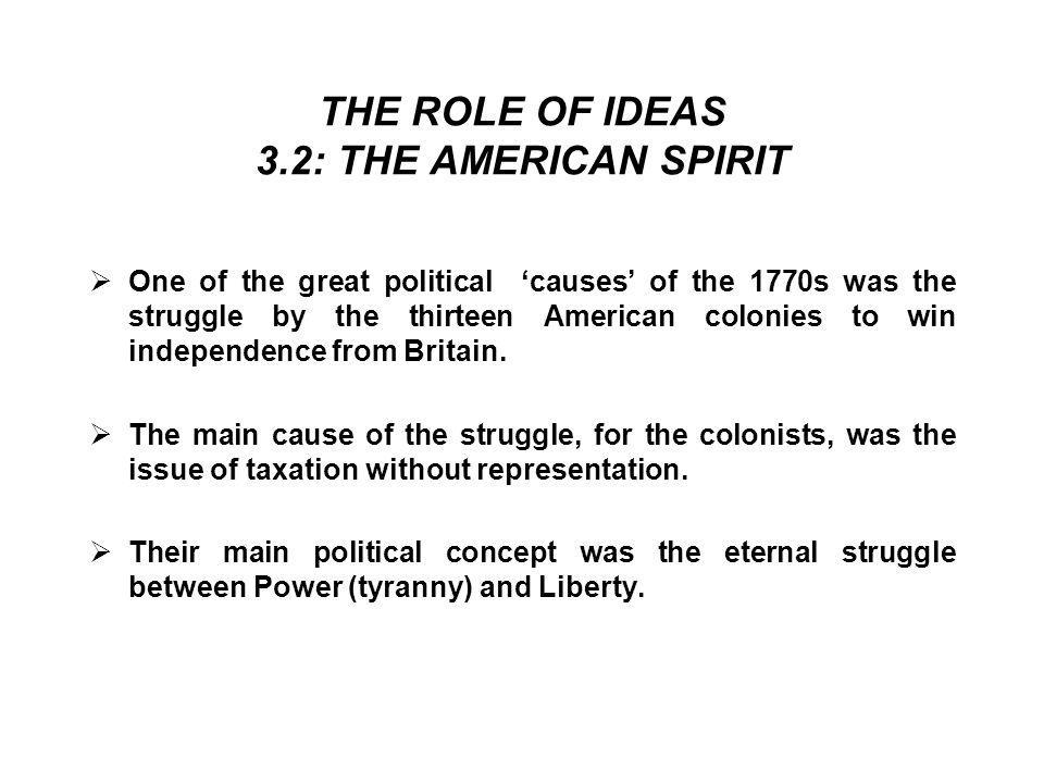 THE ROLE OF IDEAS 3.2: THE AMERICAN SPIRIT