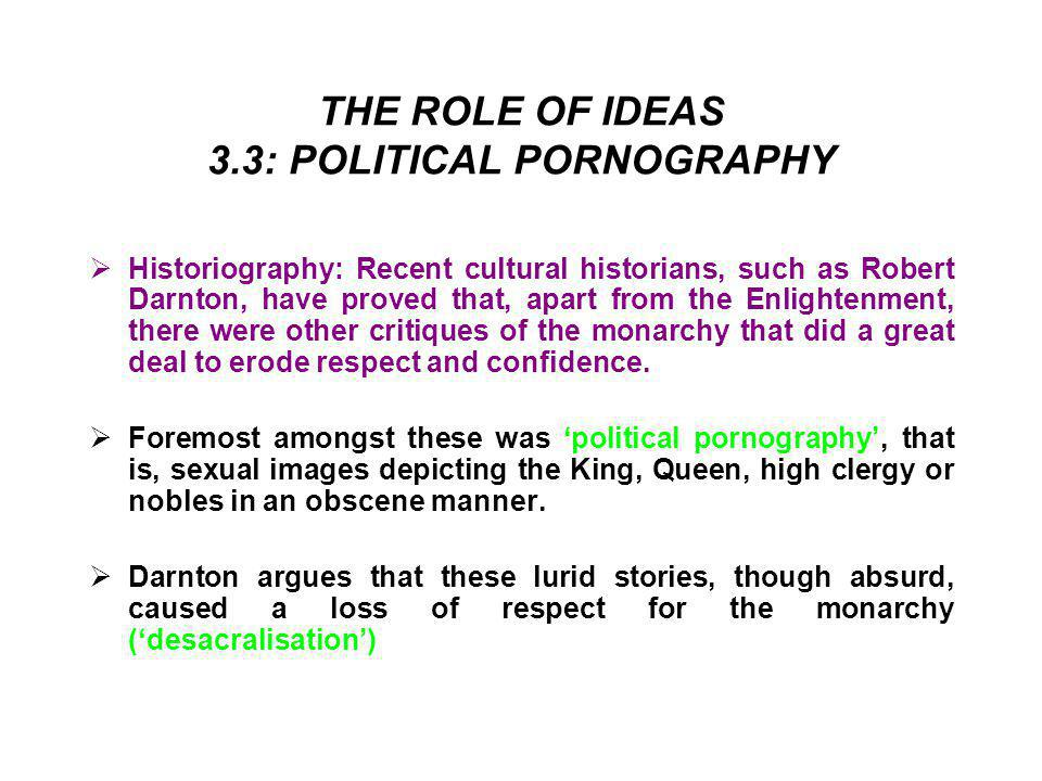 THE ROLE OF IDEAS 3.3: POLITICAL PORNOGRAPHY