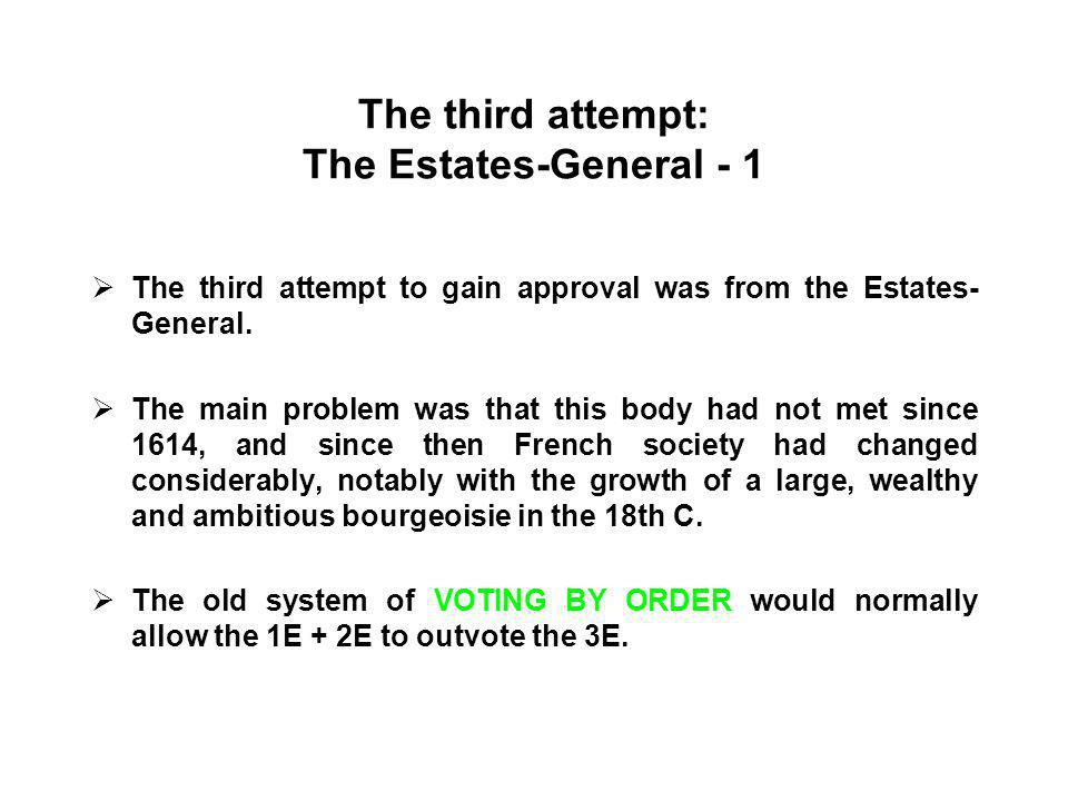 The third attempt: The Estates-General - 1