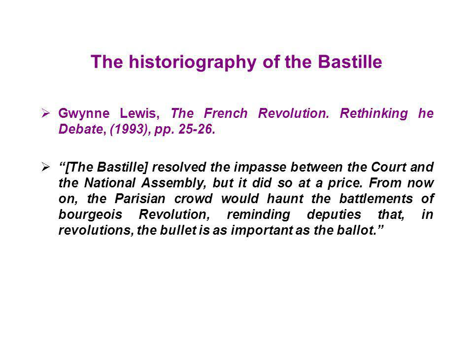 The historiography of the Bastille
