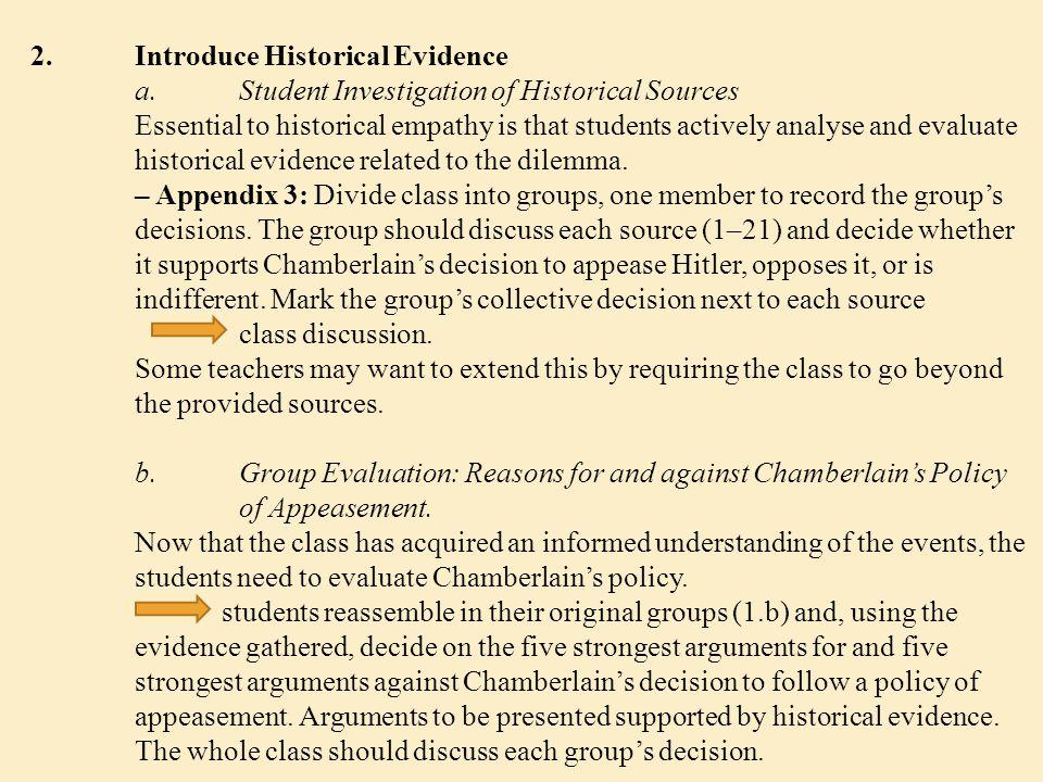2. Introduce Historical Evidence