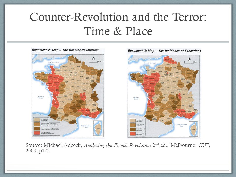 Counter-Revolution and the Terror: Time & Place