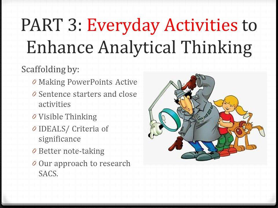 PART 3: Everyday Activities to Enhance Analytical Thinking