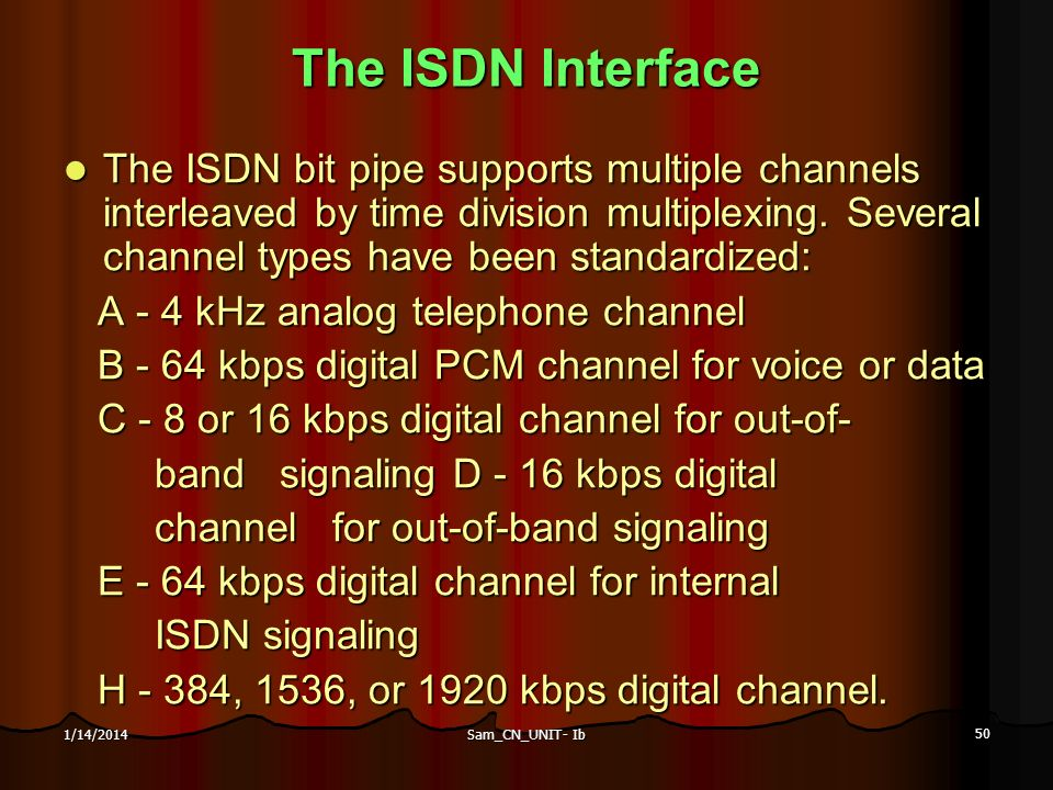 The ISDN Interface