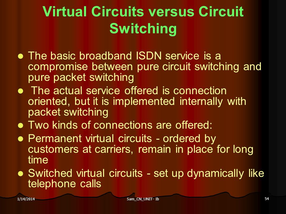 Virtual Circuits versus Circuit Switching