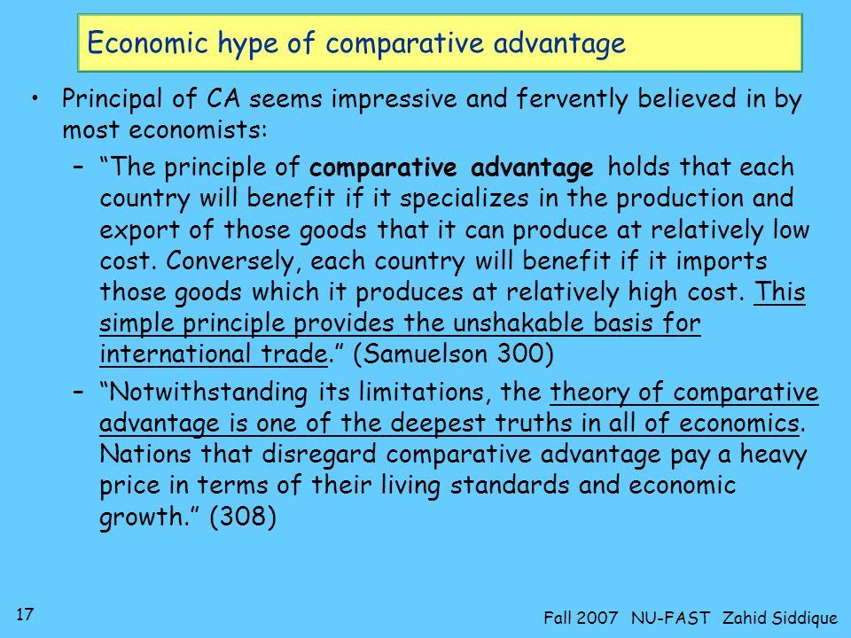 Economic hype of comparative advantage