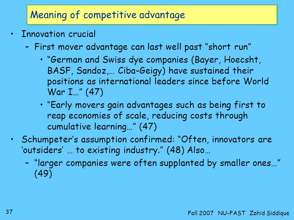 Meaning of competitive advantage