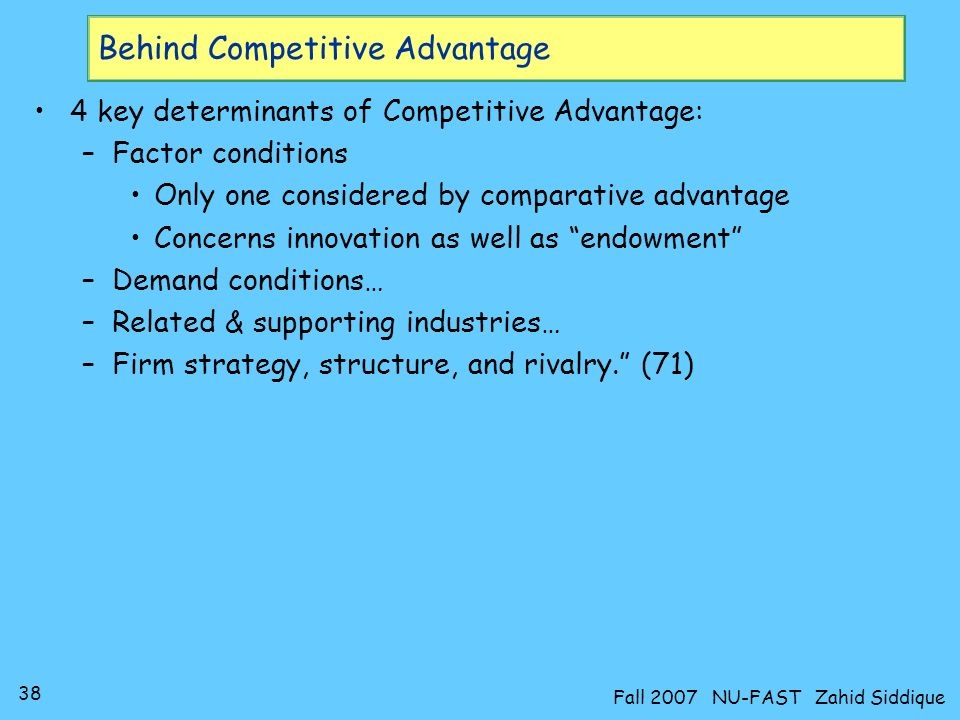 Behind Competitive Advantage