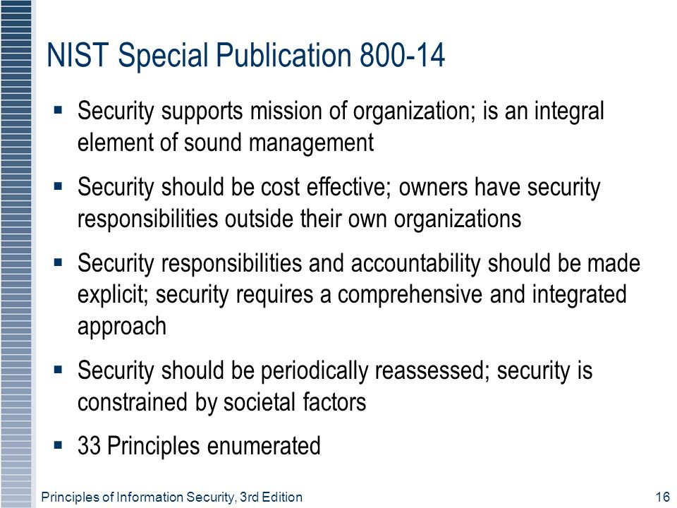 NIST Special Publication 800-14