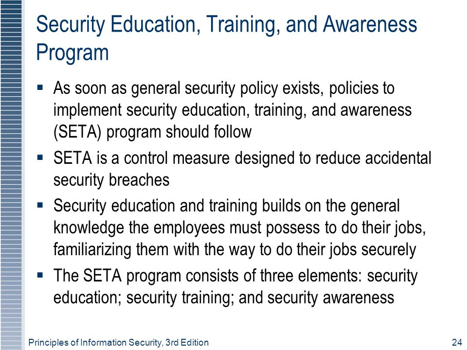 Security Education, Training, and Awareness Program